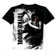Japanese Anime clothing Tokyo Ghoul Black T-shirt 2014 New 03