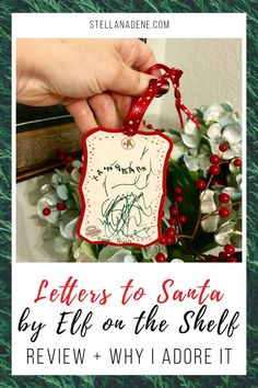 Review of Letters to Santa for the Scout Elf, Elf on the Shelf. Why I love this kit--how to use it for your newest Christmas tradition + have a keepsake for your kid, toddler, preschooler. Ideas for a new keepsake ornament #elfontheshelf #elfontheshelfideas #elfideas #elfonashelf #Christmastradition #keepsake #Christmastime