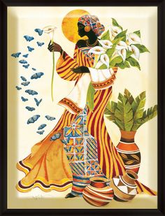 Cuadros Modernos Pinturas : Pintura Moderna: Cuadros Negras Africanas