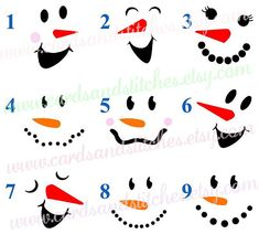 These Snowman Faces Vinyl Decals or Iron-on Transfers are a fun DIY project to make for personalizing all your electronics, clothes and more.  ***Please add a note to seller with***  1. Number of design (one snowman per quantity). 2. Colors if different from picture.  (Coffee Mug NOT