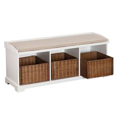 Shop Boston Loft Furnishings Talor Windowsill Bench with Storage at Lowe's Canada. Find our selection of benches at the lowest price guaranteed with price match. Indoor Storage Bench, White Storage Bench, Entryway Bench Storage, Storage Baskets, Storage Benches, White Bench, Entryway Decor, Storage Ideas, Bedroom Decor