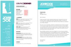 Curriculum vitae template with two pages Free Vector