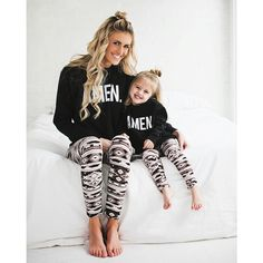 Mommy and me Mother Daughter Fashion, Mom Daughter, Mommy And Me Outfits, Kids Outfits, Toddler Fashion, Kids Fashion, Soft Pants, Matching Family Outfits, Matching Clothes