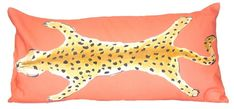 THE WELL APPOINTED HOUSE - Luxuries for the Home - THE WELL APPOINTED HOME Leopard Lumbar Pillow in Orange