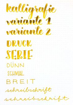 Übersicht verschiedener Schriftstile mit der Tombow ABT Dual Brush Pen Pinselspitze und Filzstiftspitze