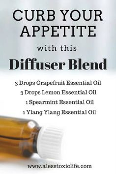 Use this diffuser blend to help control your appetite. Lose weight