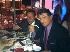 Sly Stallone, Sylvester Stallone, Arnold Schwarzenegger, Rocky, Terminator, lol, funny