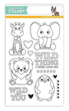 Simon Says Clear Stamps WILD CUDDLY CRITTERS SSS101704 at Simon Says STAMP!