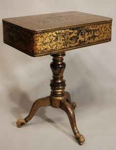Regency Chinoiserie Pen Work Work Table.