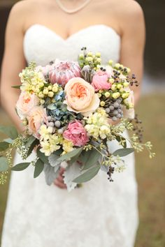 Simple blue and pink wedding -see more at http://fabyoubliss.com