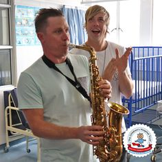 The GoldFish duo delight patients in the Trauma Ward Childrens Hospital, Saxophone, Red Cross, Christmas Carol, Goldfish, Trauma, Wednesday, Families, Festive