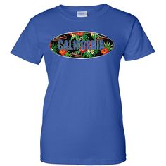 California Tropical Flowers Logo Ladies T-Shirt