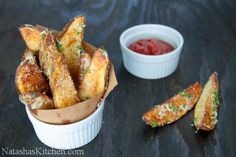 Oven Baked Potato Wedges-11