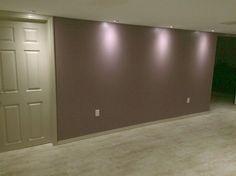 Home Renovation, Basement, Living Spaces, Flat Screen, Garage Doors, Outdoor Decor, Home Decor, Blood Plasma, Homemade Home Decor
