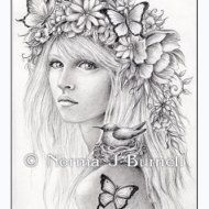 Fairy of the Forest  Fairy Tangles Printable by FairyTangleArt