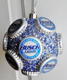 Busch Light beer bottle cap  holiday ornament by jennaevesblocks, $7.50