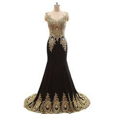 2017 New Fashion Cap Sleeves Mermaid Evening Dresses,Custom Made Beading Satin Long Prom Dress