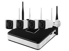 Kit sistem supraveghere AKU 4 camere Wireless 1.3MPxl IP /NVR 4 canale    Sistemul de supraveghere contine:Camera supraveghere video exterior 1.3MPxl Wireless - 4bucSursa alimentare camere 12V-1A - 4bucSuport camera - 4 bucNVR 4 canale - 1buc (nu contine hdd)Mouse NVR - 1bucSursa alimentare NVR - 1buc