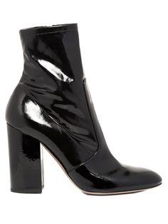 Block-heel patent-leather ankle boots   Valentino   MATCHESFASHION.COM UK