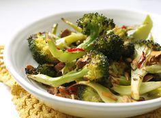 My New Roots: Spicy Roasted Broccoli with Almonds