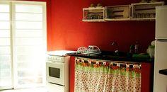 varao para cortina de pia de cozinha