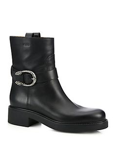 Gucci Dionysus Leather Moto Boots
