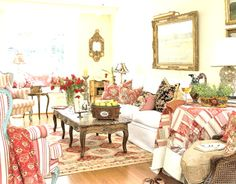 Love the country cottage decor!