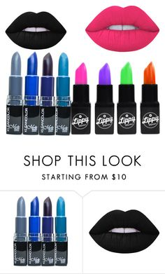 """""""LIPSTICK"""" by noraza ❤ liked on Polyvore featuring Lime Crime"""
