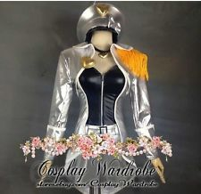 LOL League of Legends Ahri Cosplay Costume Popstar Ahri Skin Silver Uniform Hat