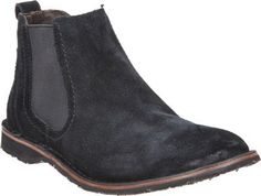 Black Suede Chelsea Boots by John Varvatos. Buy for $228 from Barneys Warehouse