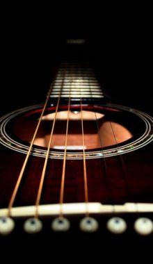 Dark acoustic guitar