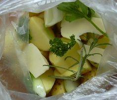 Brambory v mikrotenu :: Domací kuchařka - vyzkoušené recepty