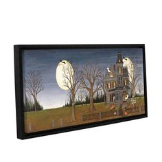 The Holiday Aisle Haunted House Framed Painting Print on Wrapped Canvas Size:
