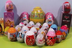 ♥ 30 Surprise Eggs ♥ Kinder ♥ Zaini ♥ Hello Kitty ♥ Barbie ♥ Disney Princess ♥ Mickey Mouse ♥ Minnie Mouse ♥ Cars ♥ Spiderman Toys ♥