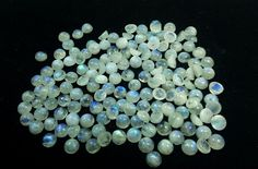 8X8 MM ROUND RAINBOW MOONSTONE CABOCHON GEMSTONE BLUE FIRE 10 PIECE LOT 24% OFF #KgnInternationalExport