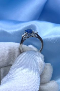 Stand out from the crowd with this sapphire engagement ring. Add some extra dazzling diamonds for a beautiful diamond engagement ring unlike any other. Elegant Engagement Rings, Diamond Engagement Rings, Wedding Rings, Sapphire Gemstone, Blue Sapphire, Beautiful Diamond Rings, Eternity Ring, White Gold Rings, Diamond Jewellery