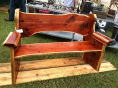 Items similar to Cedar bench, wooden bench, wooden furniture, rustic furniture, cedar furniture on Etsy Cedar Furniture, Rustic Outdoor Furniture, Rustic Bench, Pallet Furniture, Furniture Plans, Cedar Bench, Cedar Wood, Red Cedar, Homemade Bench