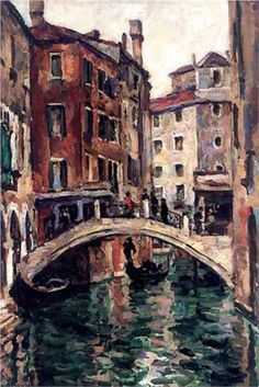Pyotr Konchalovsky - The bridge of the Apostles in Venice, oil on canvas