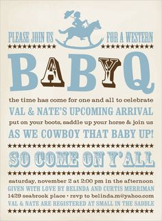 Small in the Saddle Boy Baby Shower Invitations by Noteworthy Collections - Invitation Box
