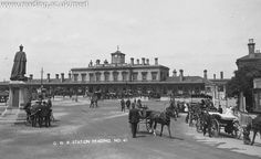 Early 20th Century Reading train station, Berkshire (Dann-Lewis collection)