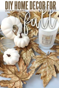 White pumpkins have been gaining popularity with designers and decorators as they allow to create a more elegant and sophisticated look that will last from fall into Christmas season. As an illustration, we have gathered 10 BEST white pumpkin decor ideas. They are all easy to recreate, most have step-by-step tutorials with a list of needed supplies, and will look classy and festive in your Holiday home. White Pumpkin Decor, White Pumpkins, Fall Pumpkins, Pumpkin Centerpieces, Thanksgiving Centerpieces, Thanksgiving Tree, Diy Craft Projects, Diy Crafts To Sell, Homemade Crafts