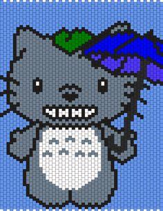 My Neighbor Totoro Hello Kitty Bead Pattern