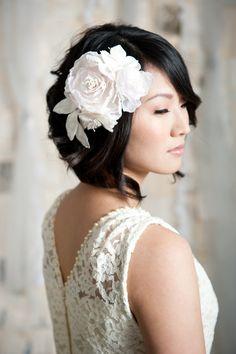 Tessa Kim - Grace vintage flower headpiece $164