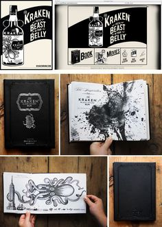 The Kraken Rum // Dead As We Know It developed this epic backstory of the Kraken's existence // collateral, print, web, tv ads, and interactive aps