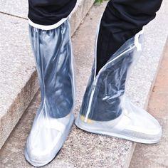 Men Women 1 Pair Rain Shoes Cover Waterproof High Boots Flats Slip-resistant Overshoes Rain Gear Source by kmecko Rain Shoes, Rain Gear, Waterproof Shoes, Raincoats For Women, Bag Storage, High Boots, Shoe Boots, Ankle Boots, Fashion Shoes