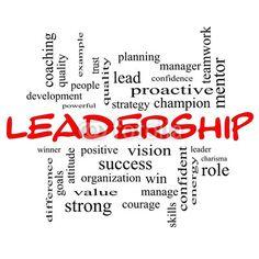 Chmura word Leadership Pojęcie cal czerwień czapkach