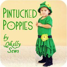 Pintucks and handkerchief skirt tutorial - Melly Sews