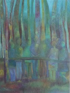 Modern Schilderij In het bos 60x80x3