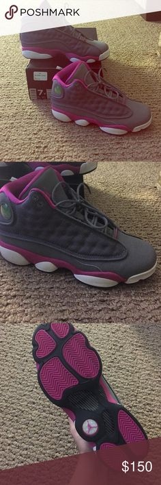 Air Jordan 13 size 7y Girl size 7y (women's 8.5) brand new !!! gently worn 1x in house . Does not have insoles.   Willing to negotiate throw offers of any kind  Jordan Shoes Sneakers