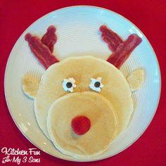 Panquecas parágrafo hum Pequeno-Almoço de Natal!